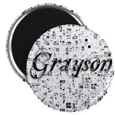 Grayson, Matrix, Abstract Art Magnet