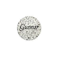 Gunnar, Matrix, Abstract Art Mini Button