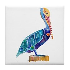 Penny Pelican Tile Coaster