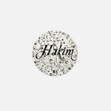 Hakim, Matrix, Abstract Art Mini Button