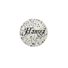 Hamza, Matrix, Abstract Art Mini Button