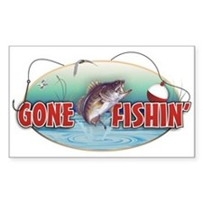Gone Fishin' Decal (white)