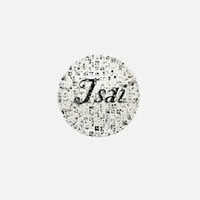 Isai, Matrix, Abstract Art Mini Button