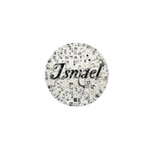 Ismael, Matrix, Abstract Art Mini Button