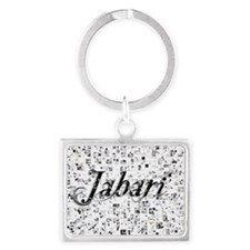 Jabari, Matrix, Abstract Art Landscape Keychain