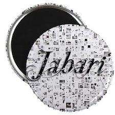 Jabari, Matrix, Abstract Art Magnet