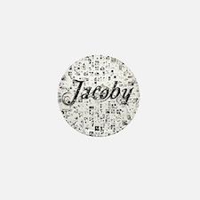 Jacoby, Matrix, Abstract Art Mini Button