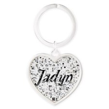 Jadyn, Matrix, Abstract Art Heart Keychain