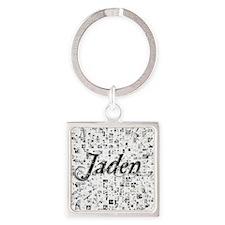 Jaden, Matrix, Abstract Art Square Keychain