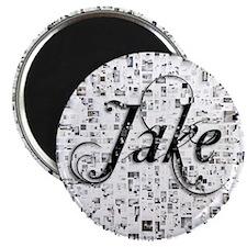 Jake, Matrix, Abstract Art Magnet
