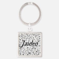 Jaiden, Matrix, Abstract Art Square Keychain