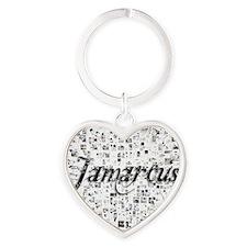 Jamarcus, Matrix, Abstract Art Heart Keychain