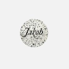 Jakob, Matrix, Abstract Art Mini Button