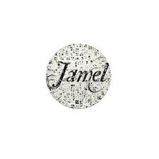 Jamel, Matrix, Abstract Art Mini Button