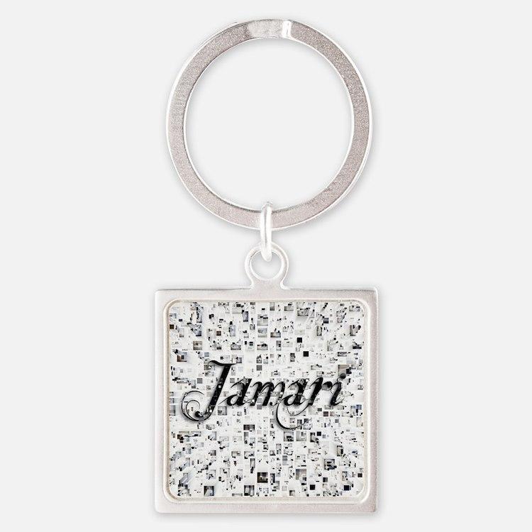 Jamari, Matrix, Abstract Art Square Keychain