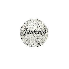 Jameson, Matrix, Abstract Art Mini Button