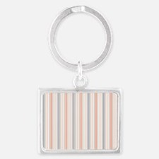 Salmon Stripe pillow case Landscape Keychain
