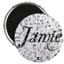 Jamie, Matrix, Abstract Art Magnet