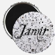 Jamir, Matrix, Abstract Art Magnet