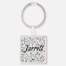 Jarrett, Matrix, Abstract Art Square Keychain