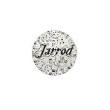 Jarrod, Matrix, Abstract Art Mini Button