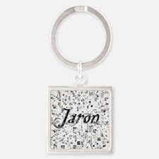 Jaron, Matrix, Abstract Art Square Keychain