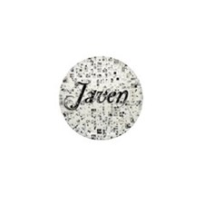 Javen, Matrix, Abstract Art Mini Button