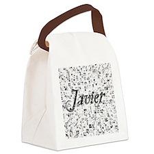 Javier, Matrix, Abstract Art Canvas Lunch Bag