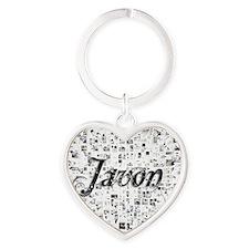 Javon, Matrix, Abstract Art Heart Keychain