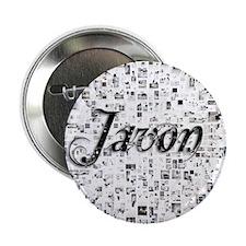 "Javon, Matrix, Abstract Art 2.25"" Button"