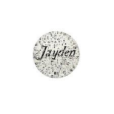 Jayden, Matrix, Abstract Art Mini Button