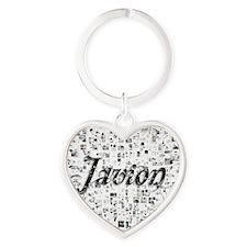 Javion, Matrix, Abstract Art Heart Keychain