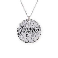 Jaxson, Matrix, Abstract Art Necklace