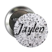 """Jaylen, Matrix, Abstract Art 2.25"""" Button"""