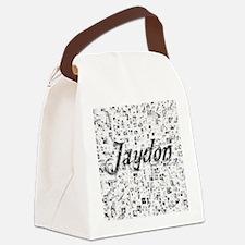 Jaydon, Matrix, Abstract Art Canvas Lunch Bag