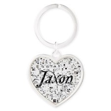 Jaxon, Matrix, Abstract Art Heart Keychain