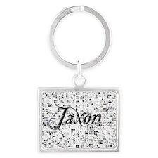 Jaxon, Matrix, Abstract Art Landscape Keychain