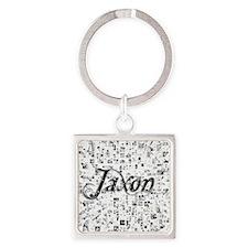 Jaxon, Matrix, Abstract Art Square Keychain