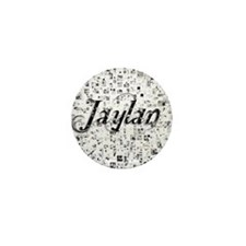 Jaylan, Matrix, Abstract Art Mini Button