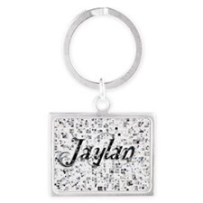 Jaylan, Matrix, Abstract Art Landscape Keychain