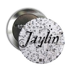 "Jaylin, Matrix, Abstract Art 2.25"" Button"