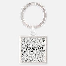 Jaydin, Matrix, Abstract Art Square Keychain