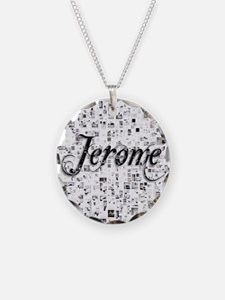 Jerome, Matrix, Abstract Art Necklace