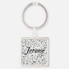 Jerome, Matrix, Abstract Art Square Keychain