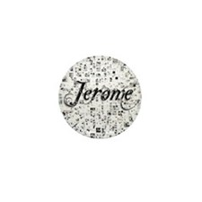 Jerome, Matrix, Abstract Art Mini Button