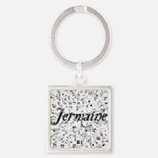 Jermaine, Matrix, Abstract Art Square Keychain
