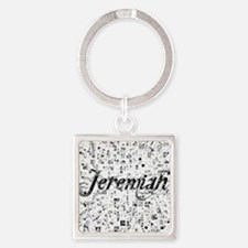 Jeremiah, Matrix, Abstract Art Square Keychain