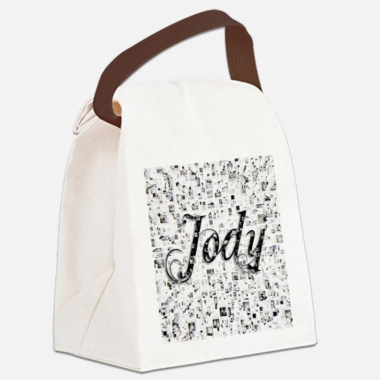 Jody, Matrix, Abstract Art Canvas Lunch Bag