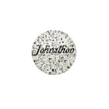 Johnathon, Matrix, Abstract Art Mini Button
