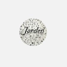 Jorden, Matrix, Abstract Art Mini Button